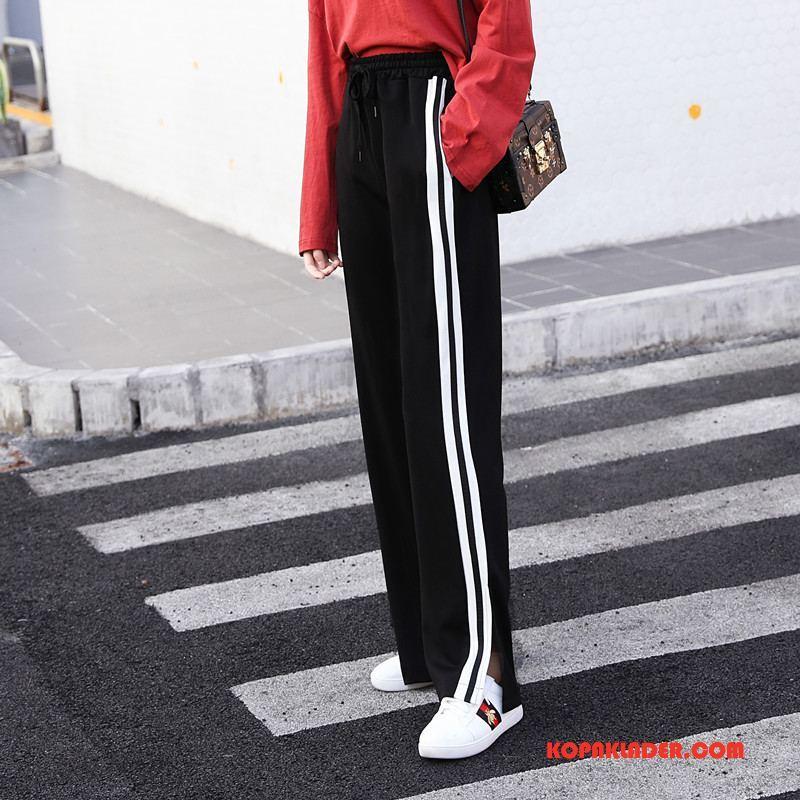 Dam Byxor Billig Trend Casual Vår Tie Mode Svart