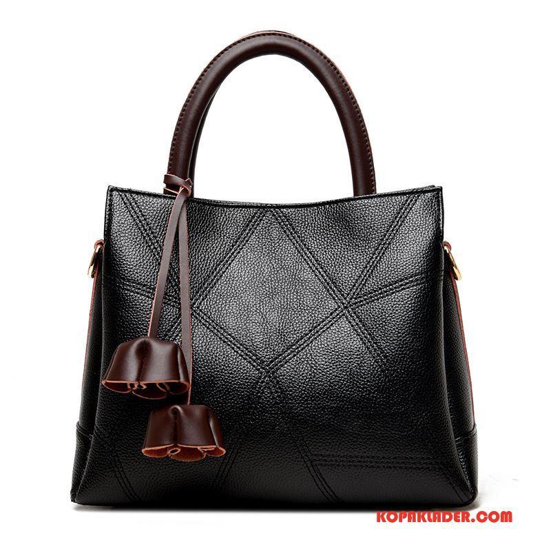 Dam Handväskor Online Sy Stor Väska Handväska Europa Mode Blå