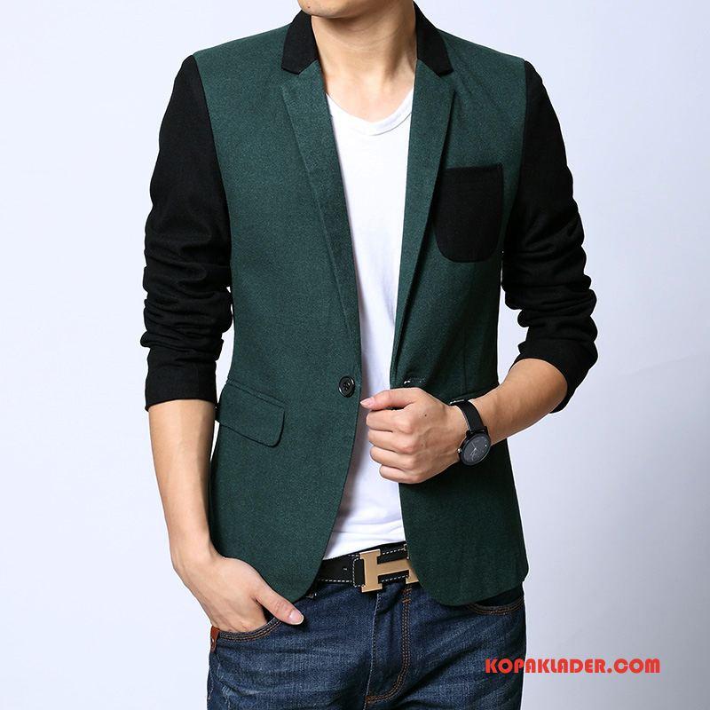 Herr Blazer Rabatt Kostymjacka Casual Liten Vacker Män Grön