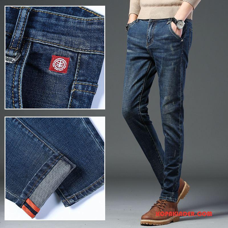 Herr Jeans Billig Mode Ny Trend Stretch Höst Blå