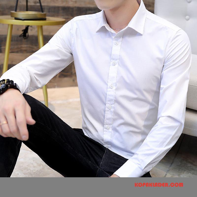 Herr Skjorta Rea Ungdom Knight Höst Män Långärmad Till Vit