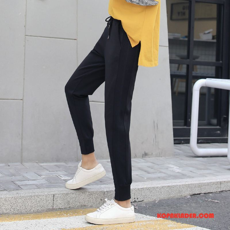 Dam Byxor Billiga Tunn Casual Byxor Trend Gata Mode Till Svart