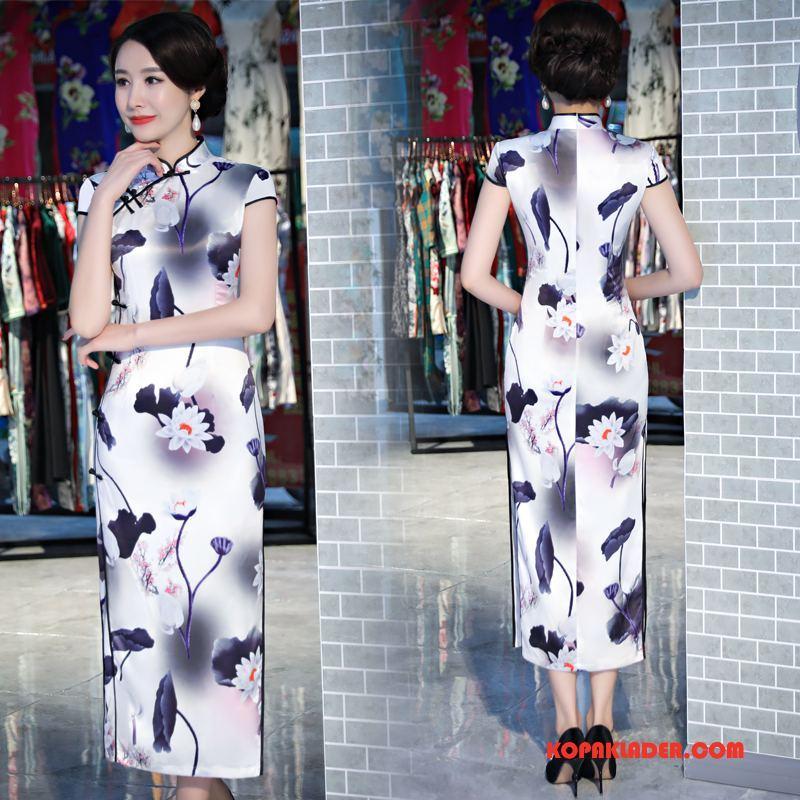 Dam Cheongsam Till Salu Klänning Mode Tunn Eleganta Trend Till Violett