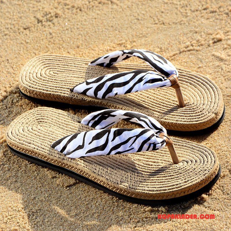 Dam Flip-flops Köpa Personlighet Zebra Tofflor Sandaler Kvinna