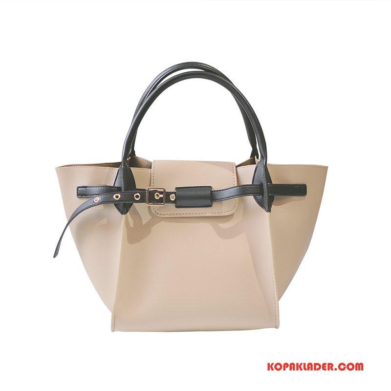Dam Handväskor Billig Kvinna Stor Väska Stor Kapacitet Sommar Elegant Vit