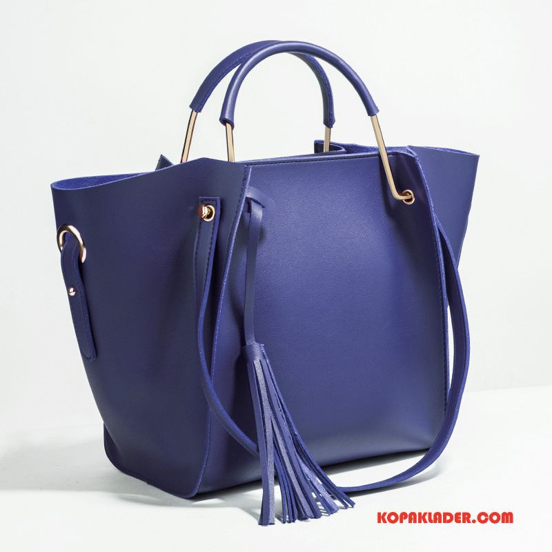 Dam Handväskor Billigt 2018 Elegant Ny Mitt Kvinna Mörkblå