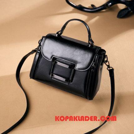 Dam Handväskor Billigt Kvinna Väska Axelremsväska Läder Messenger Väska Svart