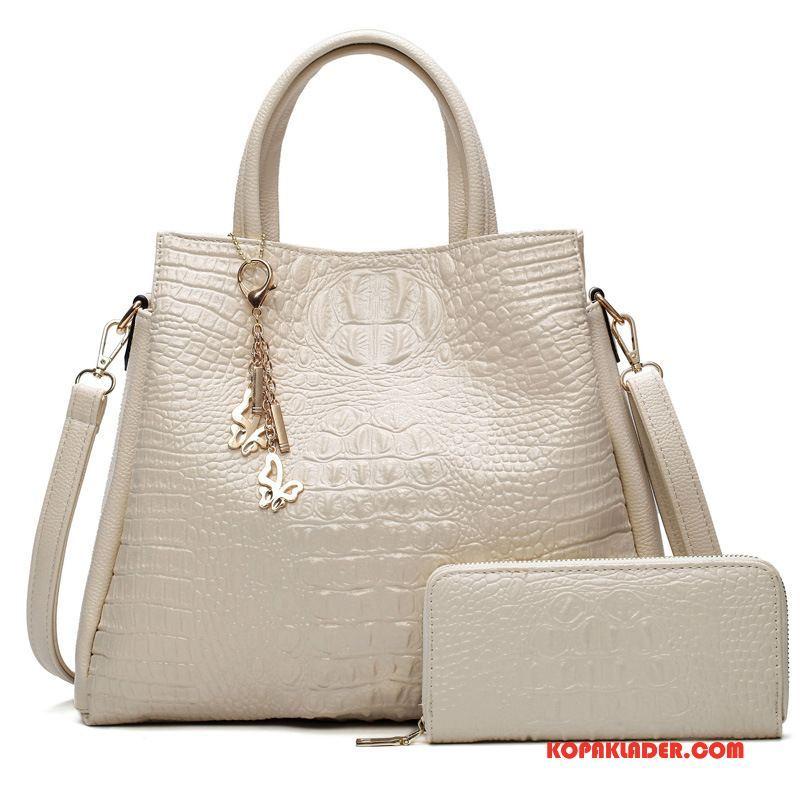 Dam Handväskor Billigt Ny Väska Stor Kapacitet Messenger Väska Klassisk Vit