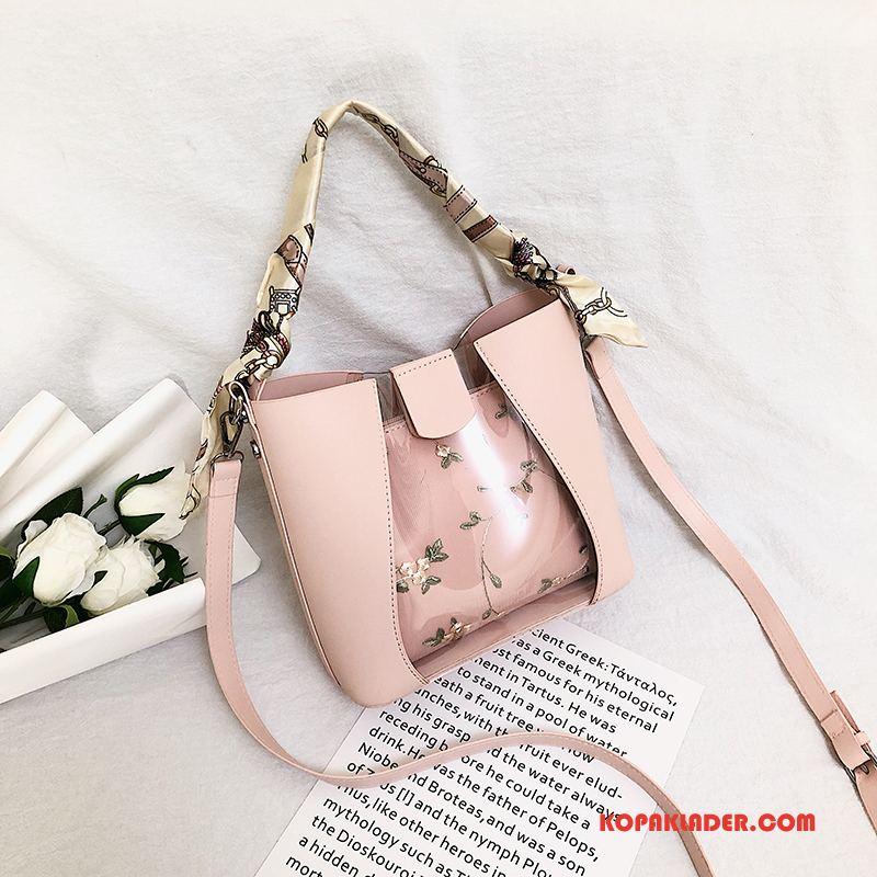 Dam Handväskor Billigt Spets Ny Mode Transparent Kvinna Rosa