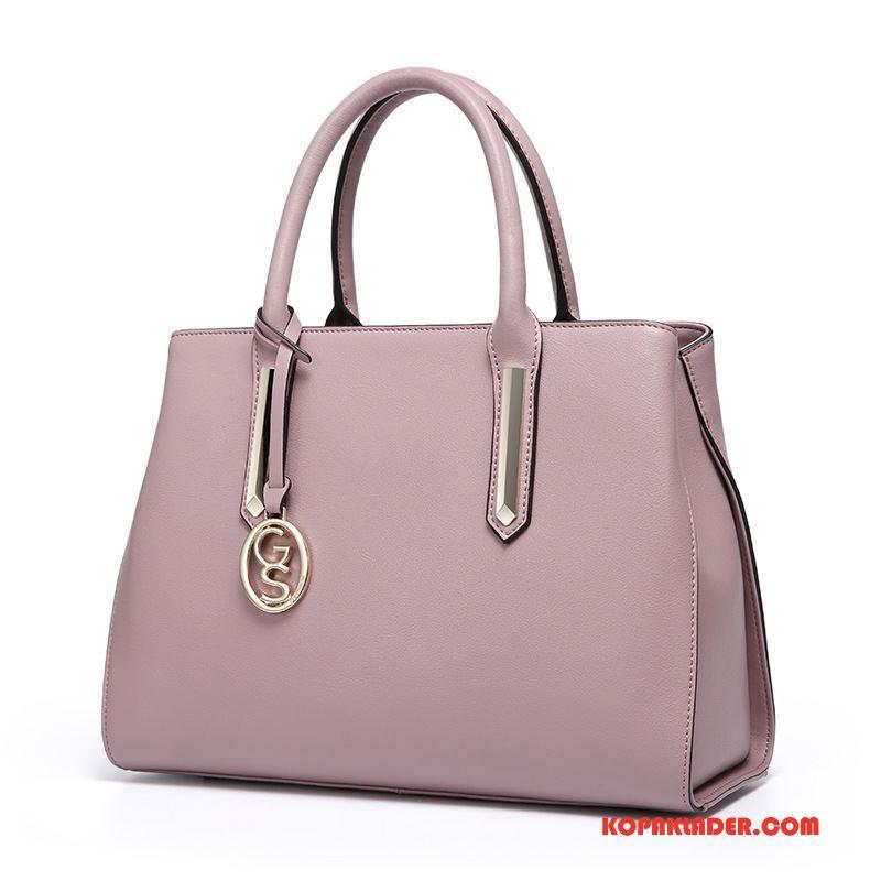 Dam Handväskor Online Väska Äkta Läder Messenger Väska Kvinna Mode Rosa