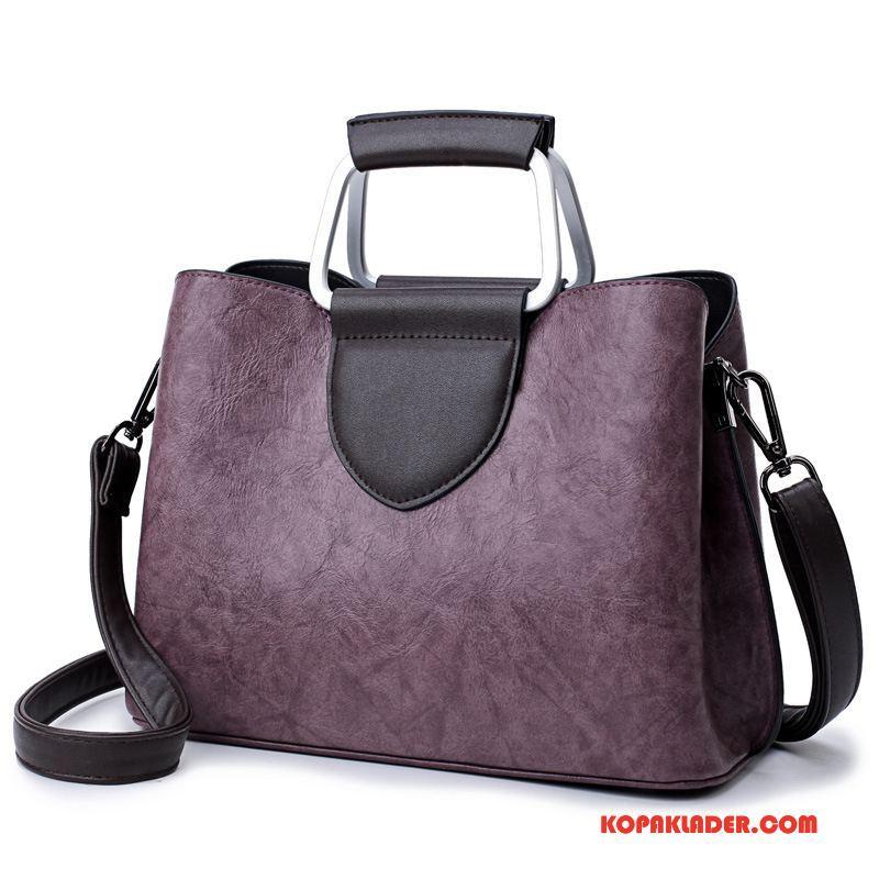 Dam Handväskor Online Väska Handväska Kvinna Äkta Läder Liten Bröstkorg Violett