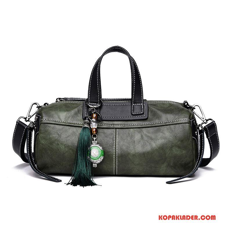 Dam Handväskor På Rea Kvinna Handväska Mjukt Läder Mode Liten Bröstkorg Grön