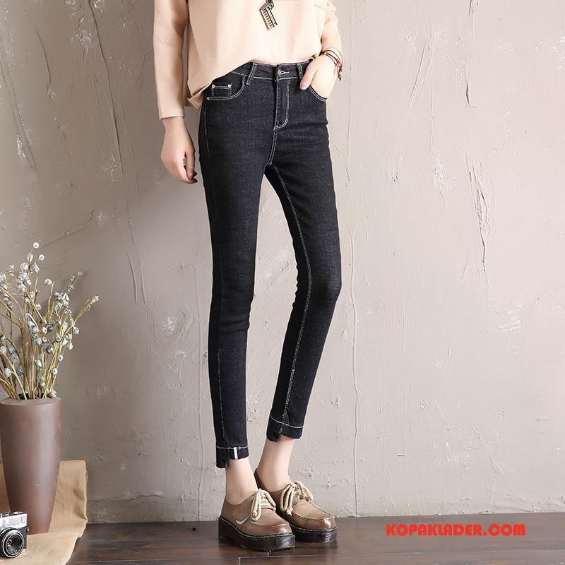 Dam Jeans Köpa Elegant Mode Trend Höst Eleganta Svart