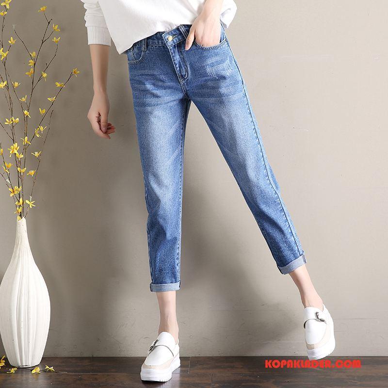Dam Jeans Online Vår Trend 2018 Slim Fit Bomull Till Blå