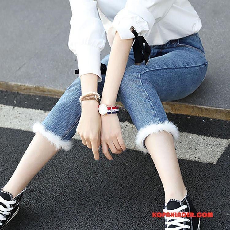 Dam Jeans På Nätet Personlighet Bekväm Trend Mode Vår Blå