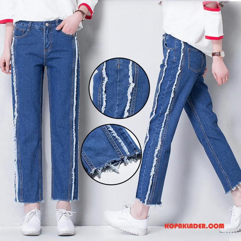 Dam Jeans Till Salu 2018 Mode Höst Trend Fickor Blå