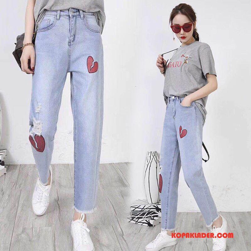 Dam Jeans Till Salu Elegant Lång Vår Eleganta Trend Till Blå