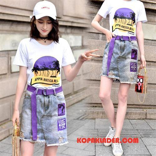 Dam Kostymer Rea Sommar Tryck Casual Elegant Trend Vit