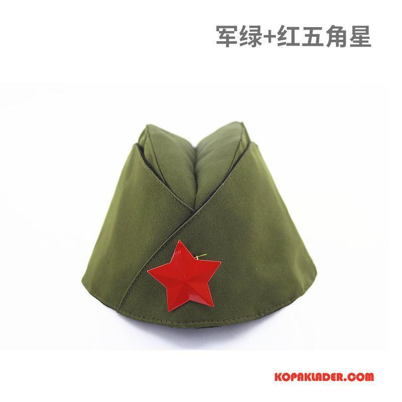 Dam Mössor Hattar Billigt Kvinna Kabinpersonal Camouflage Army Grön Röd