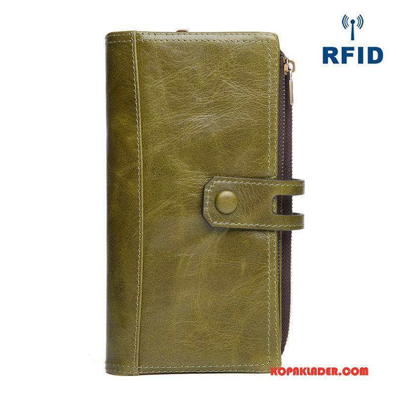 Dam Plånböcker På Rea Kuvert Mode Väska Plånbok Läder Grön