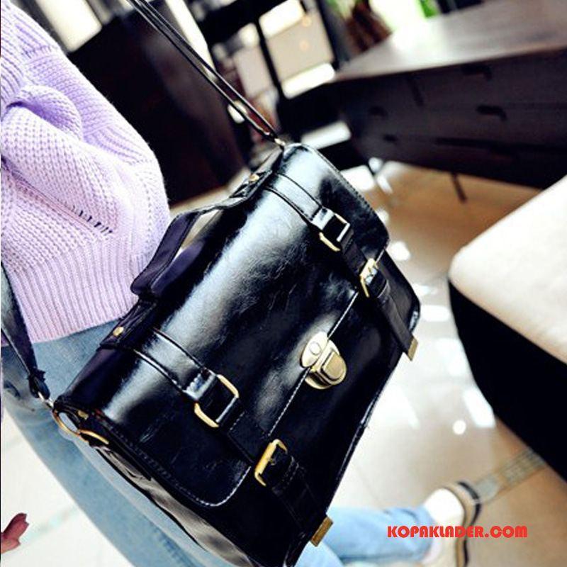 Dam Ryggsäckar Till Salu Mode British Retro Student Väska Svart