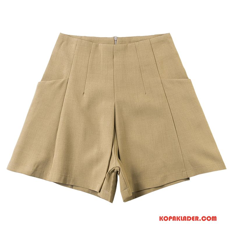 Dam Shorts Online Kortbyxor Tunn Sommar Trend Ytterkläder Gul