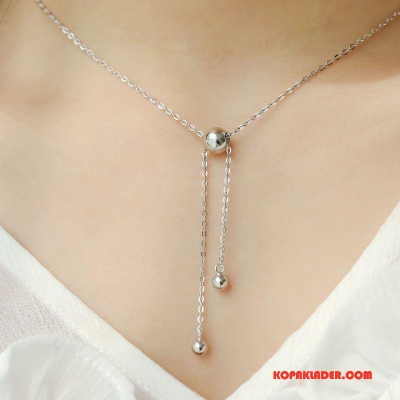 Dam Silver Smycken Billigt Allt Matchar Enkel Kvinna Tröja Tillbehör Silver