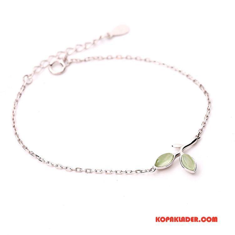 Dam Silver Smycken Billigt Elegant Enkel Söt Ren Armband Silver