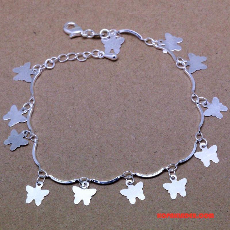 Dam Silver Smycken Billigt Fjäril Accessoar Mode Armband Kvinna Silver