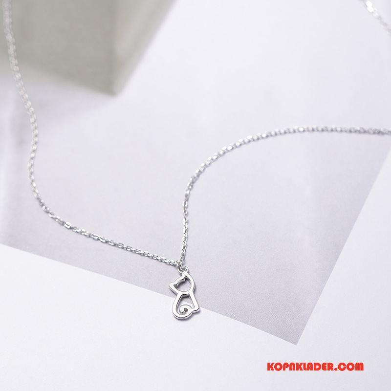 Dam Silver Smycken Billigt Trend Skit Söt Kvinna Enkel Silver
