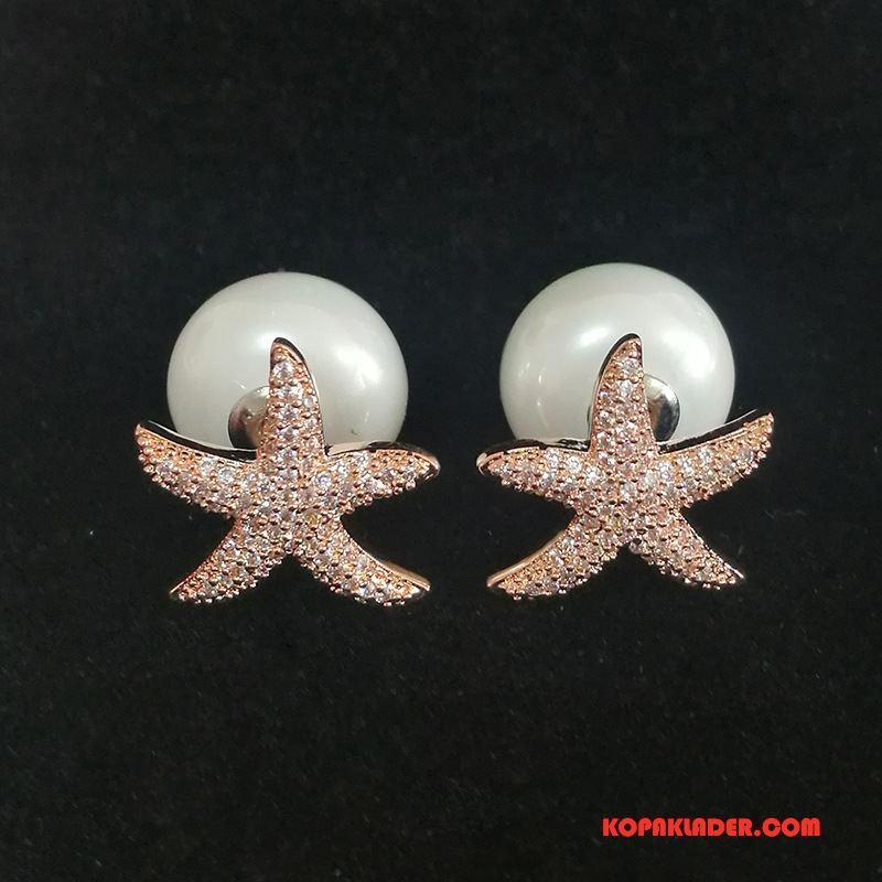 Dam Silver Smycken Butik Pärlor Mode Ren Kreativa Kvinna Guld Silver