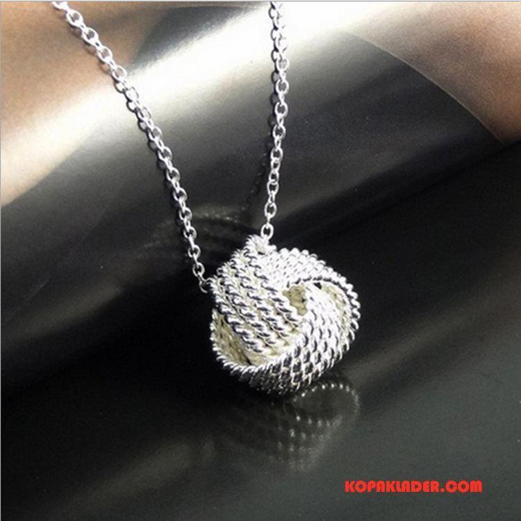 Dam Silver Smycken Köpa Europa Kvinna Personlighet Mode Allt Matchar Silver