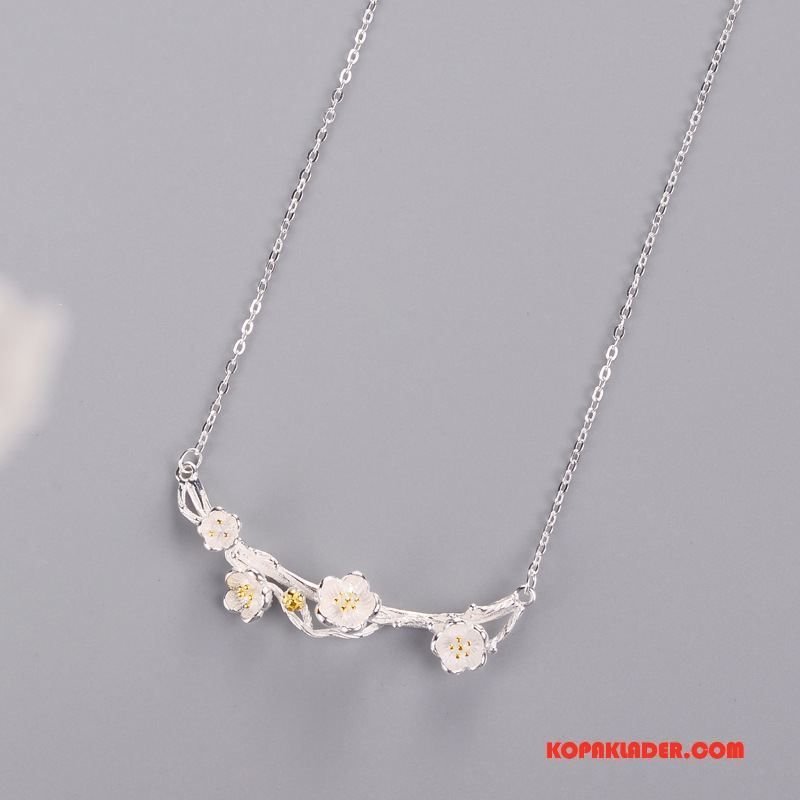 Dam Silver Smycken Köpa Kort Elegant Enkel Kyla Accessoar Silver