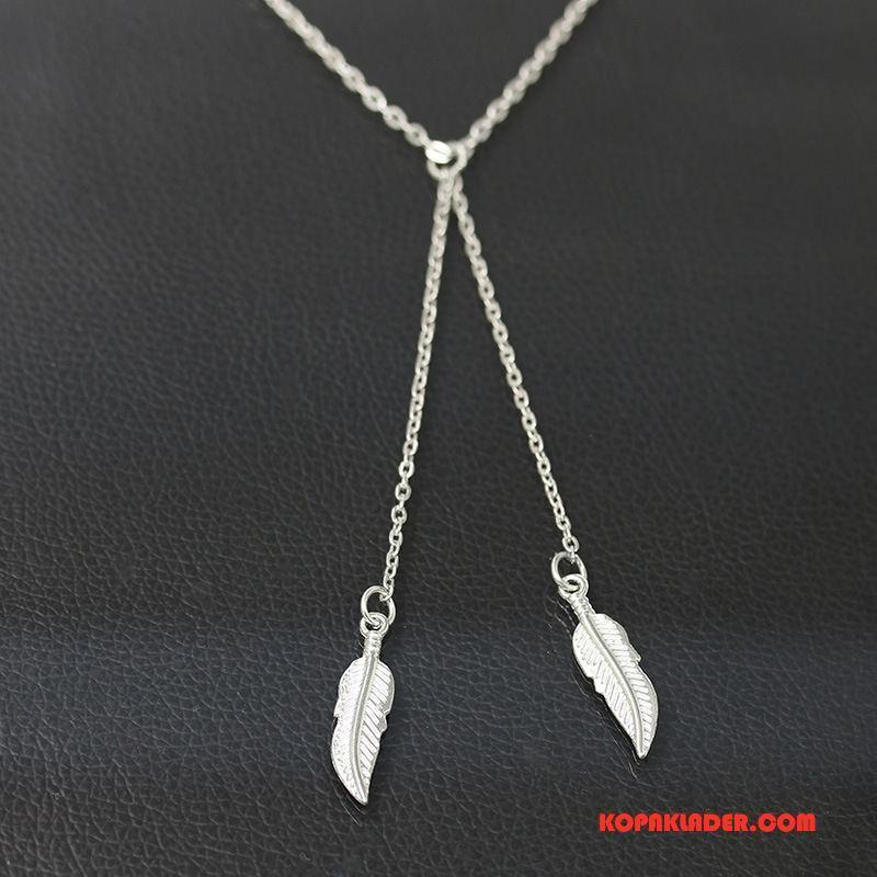 Dam Silver Smycken Köpa Kort Kvinna Enkel Europa Accessoar Guld