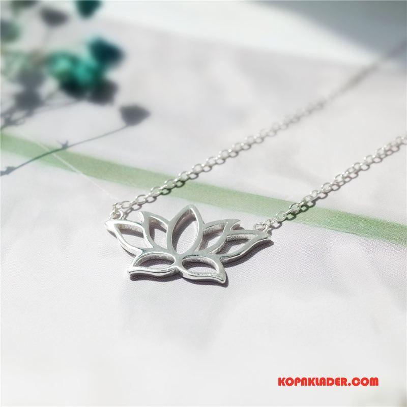 Dam Silver Smycken Köpa Naturligt Kvinna Blommor Originalitet Accessoar Silver