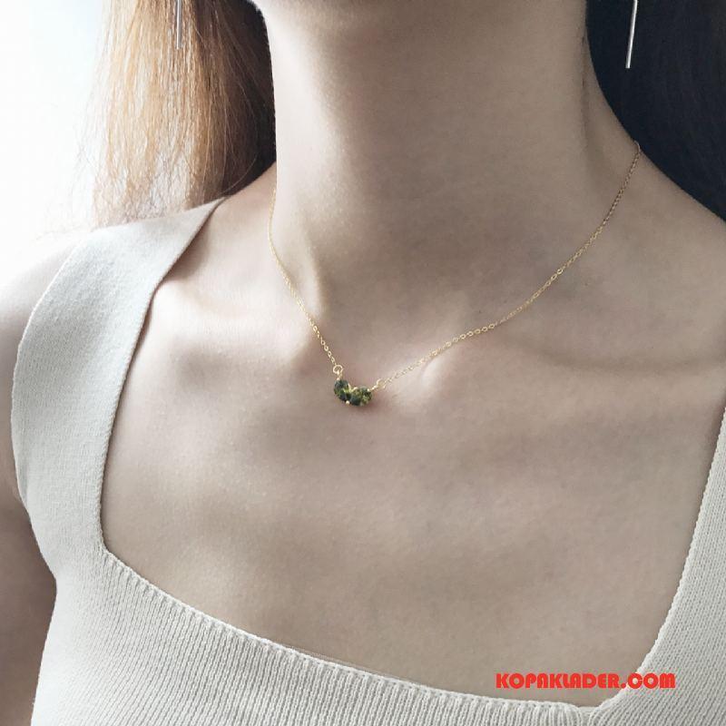 Dam Silver Smycken På Nätet Ny Ren Trend Accessoar Guld Silver