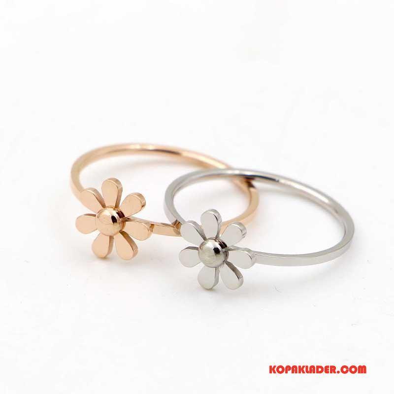 Dam Silver Smycken Till Salu Blommor Liten Bröstkorg Par Rose Mode Guld Silver
