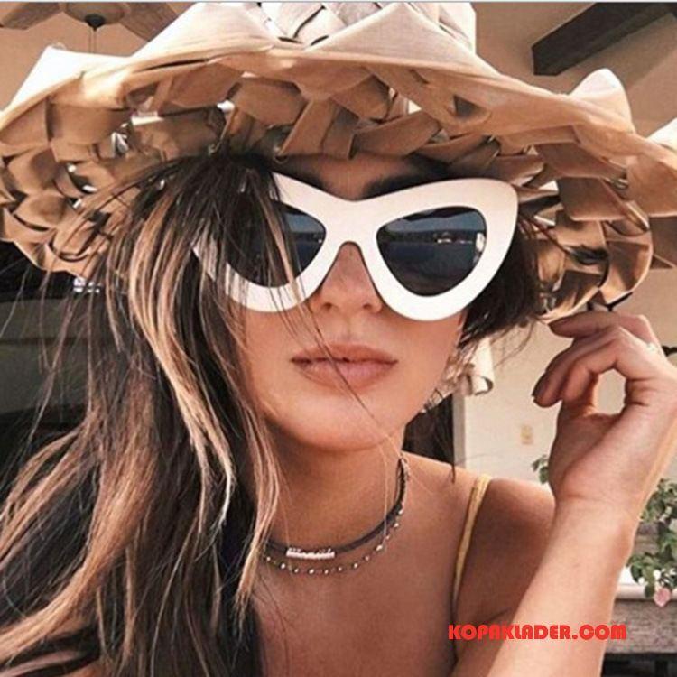 Dam Solglasögon Billig Stor Europa Mode 2018 Ny Vit