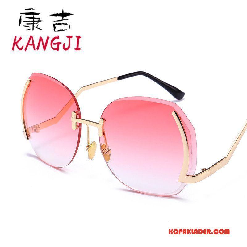 Dam Solglasögon Billiga Kvinna Trend Stor Färg Rosa