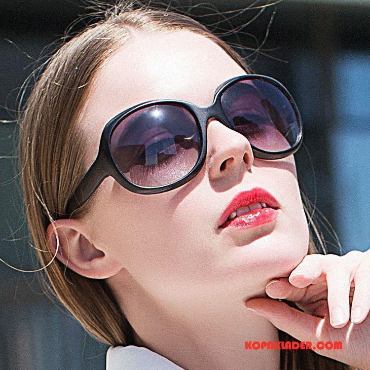 Dam Solglasögon Billigt Allt Matchar Kvinna Stor Svart
