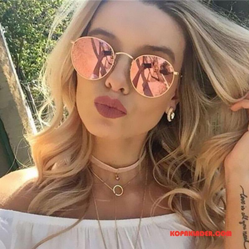 Dam Solglasögon Billigt Färg Retro Polariserande Kvinna Röd