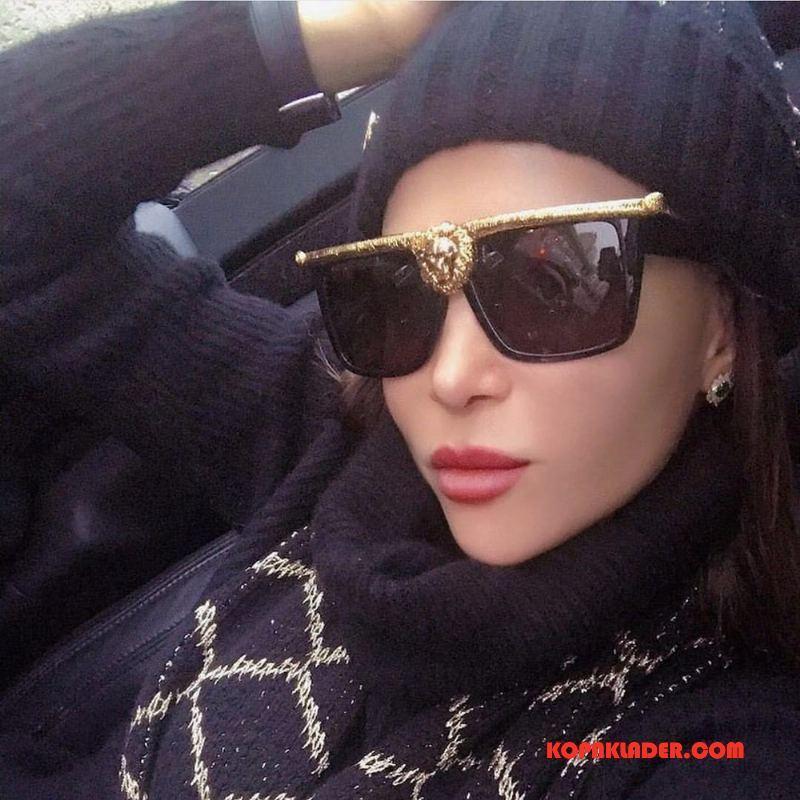 Dam Solglasögon Billigt Stil Europa Kvinna Stor Svart