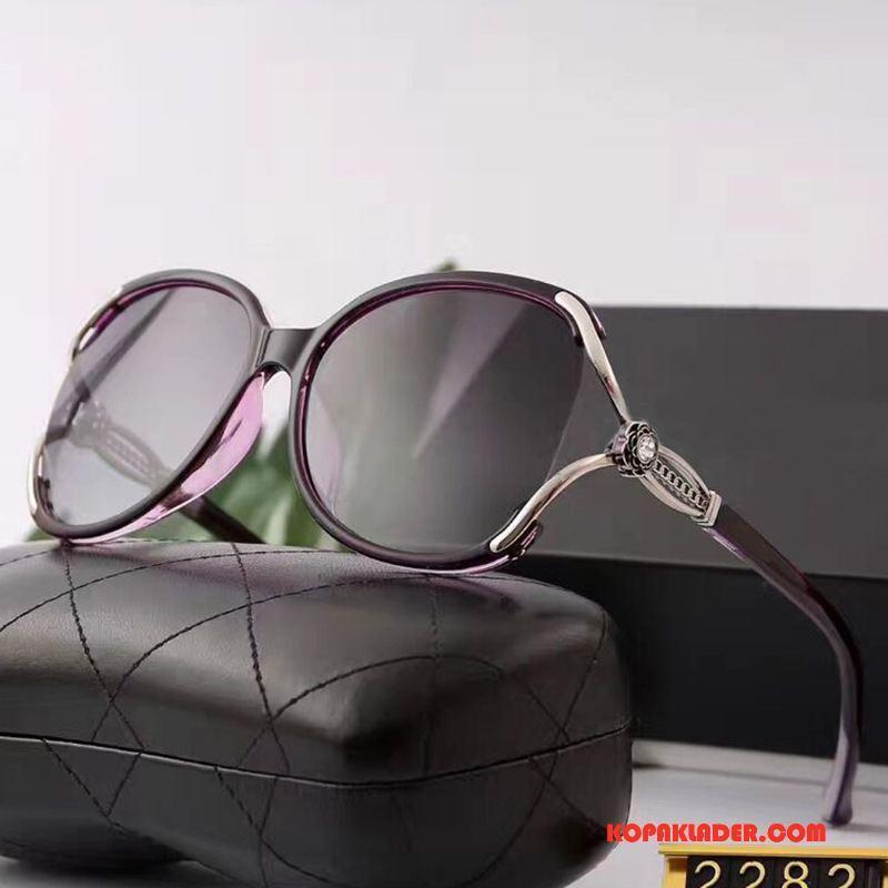 Dam Solglasögon Köpa Köra Bil Mode Blommor Europa Kvinna Purpur