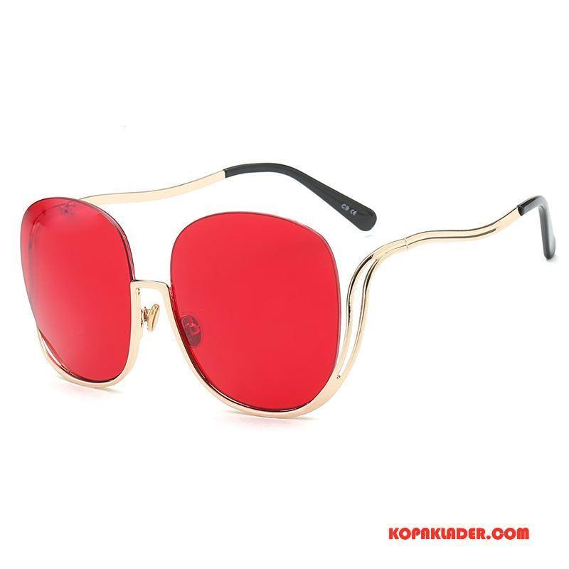 Dam Solglasögon På Nätet Stor Europa Mode Allt Matchar Trend Röd