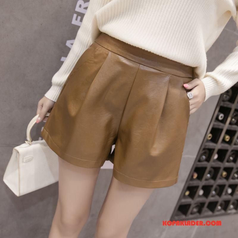 Dam Strumpbyxor Billiga Leggings Mode Kort Sy Trend Till Khaki
