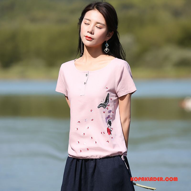 Dam T-shirts Rea Mode Slim Fit Trend Eleganta 2018 Pulver