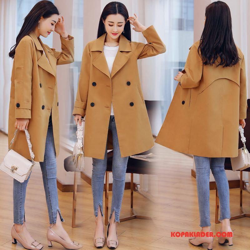 Dam Trenchcoat Billiga Trend Casual Elegant Sy Mode Till Gul
