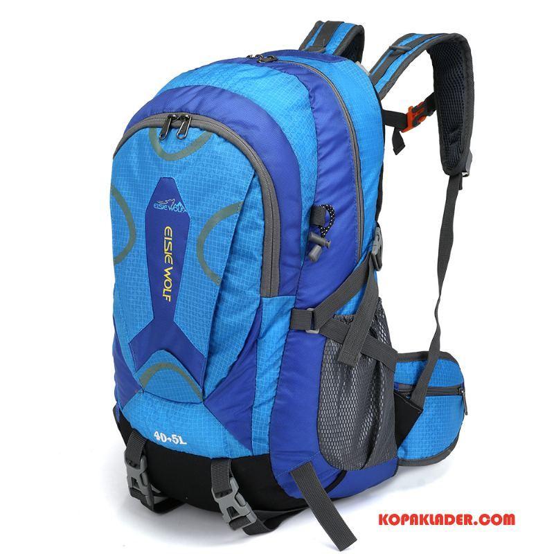 Dam Vandringsryggsäck På Nätet Väska Ny Kvinna Resa Camping Blå