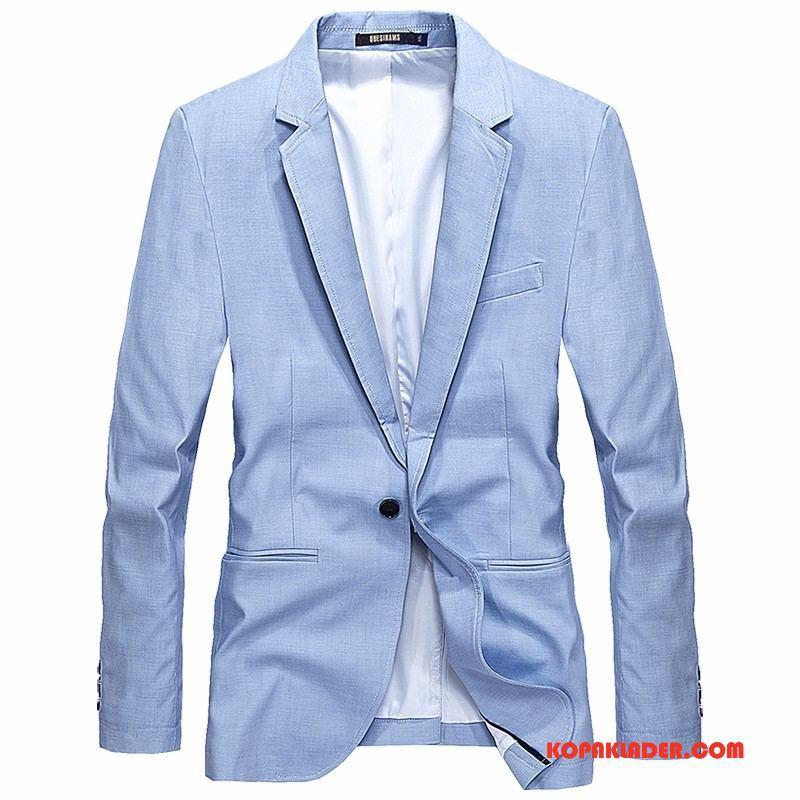 Herr Blazer Billigt Kostym Män Höst Casual Business Himmelsblå