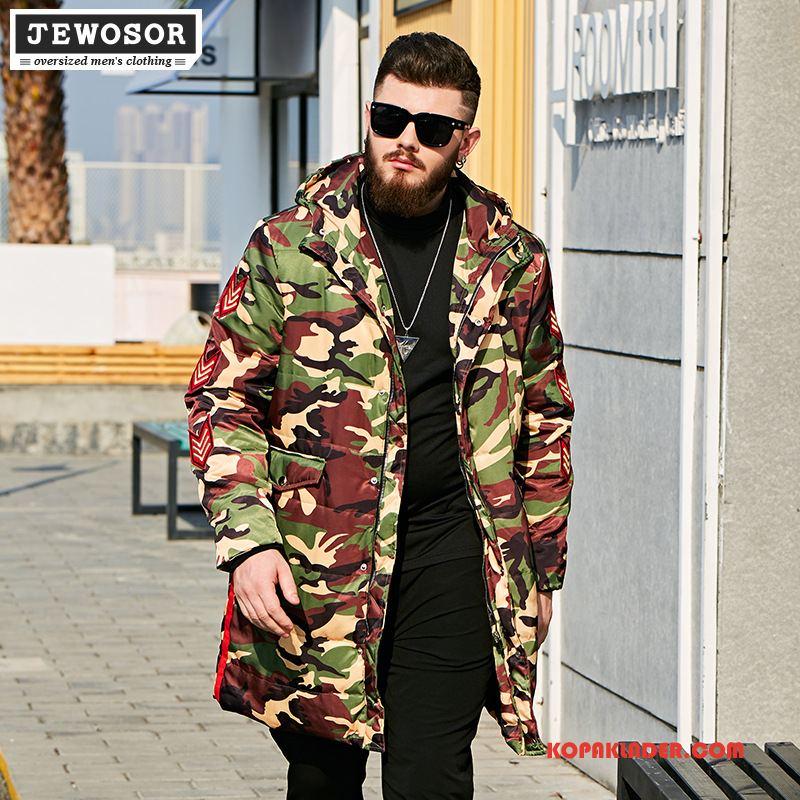 Herr Bomull Jacka Billig Stora Storlekar Kappor Rockar Trend Med Huva Män Camouflage